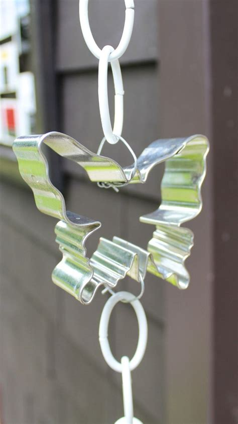 hometalk diy cookie cutter rain chain