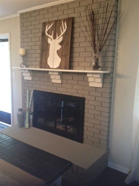 Best Paint For Fireplace Brick by 1000 Images About Fireplace On Paint How To