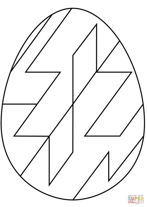 abstract easter coloring pages easter egg with abstract geometric pattern coloring page
