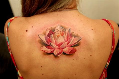white lotus tattoo back flower the best flower tattoos