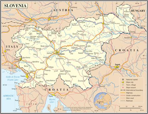 slovenia on world map slovenia maps