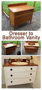 Bathroom Vanities Diy by Diy Bathroom Vanity From Dresser Diy Bathroom Vanity From