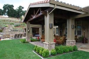 Exterior Patio Backyard Patios Ideas Patio Mediterranean With Column