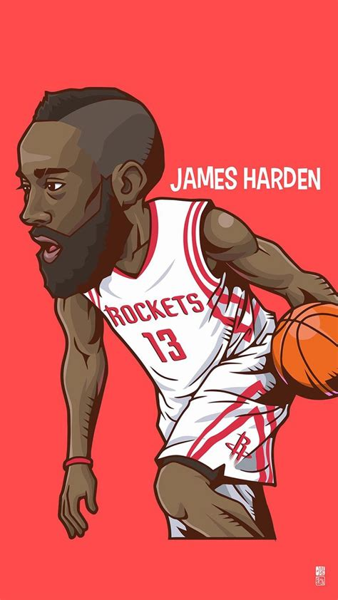 wallpaper cartoon basketball james harden tap to see collection of famous nba