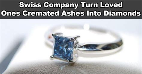 company turns cremated remains  diamonds