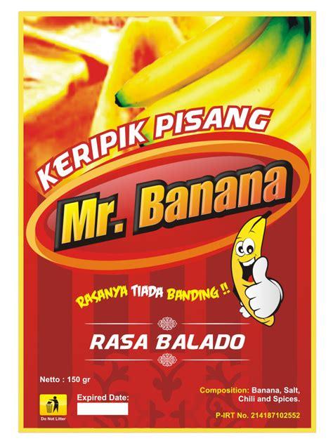Kemasan Keripik Pisang stiker kemasan keripik pisang mr banana kang yanto