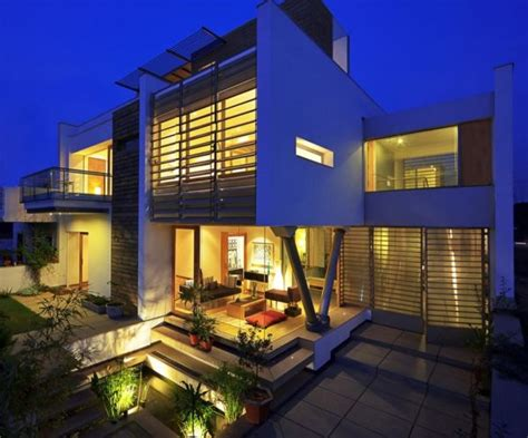Architectural House 350 Square Family House In Gurgaon India