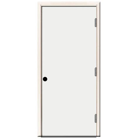 24 Inch Exterior Door Home Depot Steves Sons 24 In X 80 In Premium Flush Primed White Left Outswing Steel Prehung Front