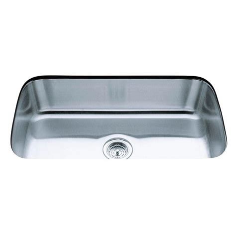 Stainless Steel Kitchen Sinks Undermount Reviews Kohler Undertone Undercounter Undermount Stainless Steel 32 In Single Basin Kitchen Sink K 3183
