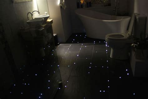 bathroom nightlight see how this guy transformed his bathroom floor into a