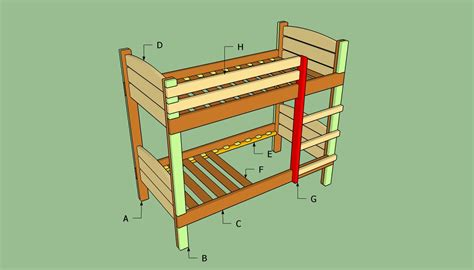 How To Build A Bunk Bed | how to build a bunk bed howtospecialist how to build step by step diy plans