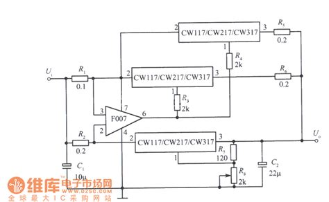 integrated circuits voltage regulator three integrated voltage regulator parallel expanding output current circuit power supply