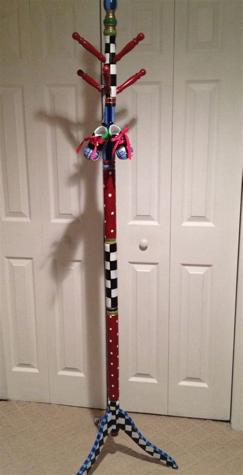 Childrens Coat Rack by Handmade Custom Personalized Painted To Suit