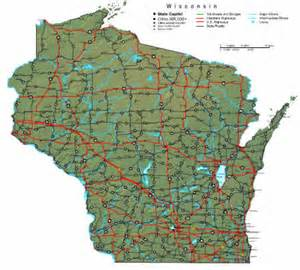 State Map Of Wisconsin by Road Map Of The State Of Wisconsin