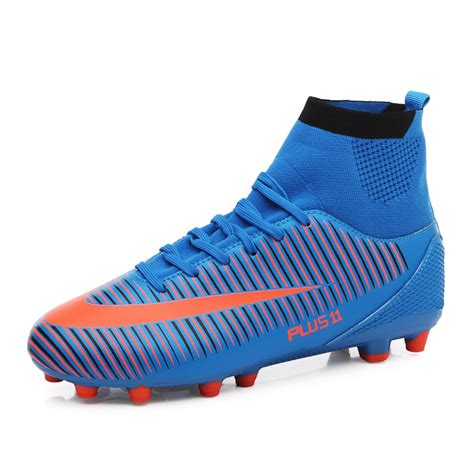 high top football shoes s high top soccer cleats aterproof artificial leather