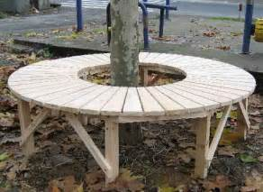 circular bench around tree circular tree bench