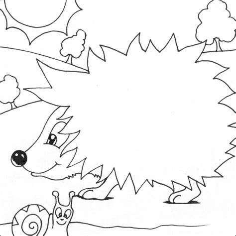 hedgehog printable coloring pages