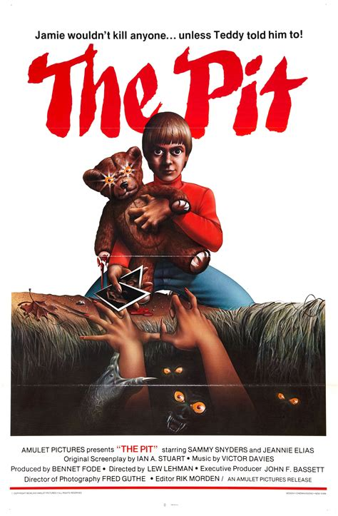 retro poster quot the pit quot 1981 bloody horror