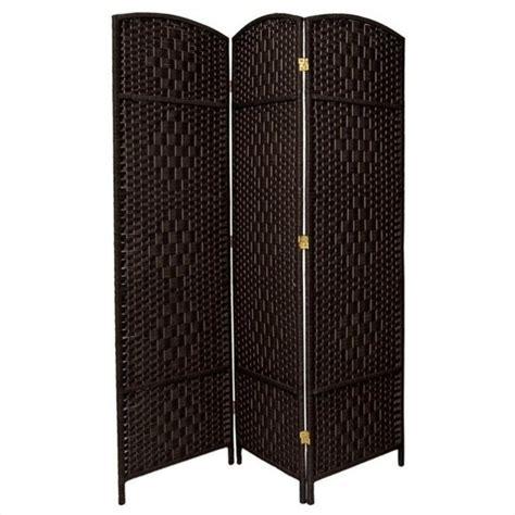 black room divider furniture three panel fiber room divider in black fb opdmnd 3p blk