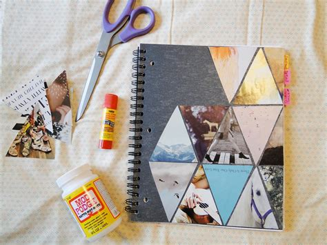 Decorating Notebooks For School by Pie N The Sky Triangle Diy