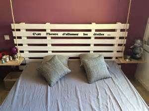 t 234 te de lit en bois de palette meubles et rangements par