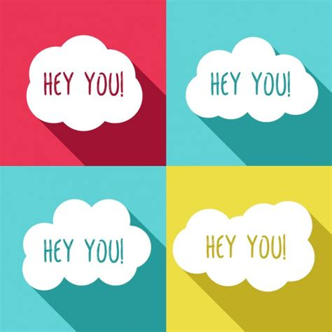 hey images hey you clouds vector free