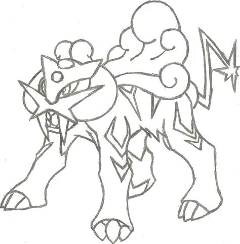pokemon coloring pages raikou legendary pokemon raikou coloring pages sketch coloring page