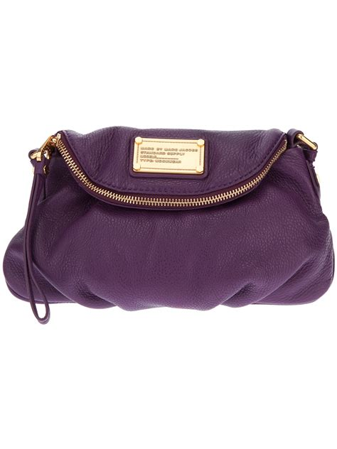 Marc By Marc Captain Shoulder Bag by Lyst Marc By Marc Mini Shoulder Bag In Purple