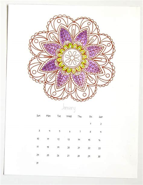 rainbow mandala coloring pages mandala coloring pages 2016 calendar a of rainbow