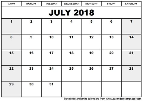 printable calendar july august 2018 printable blank june july august 2018 calendar print for