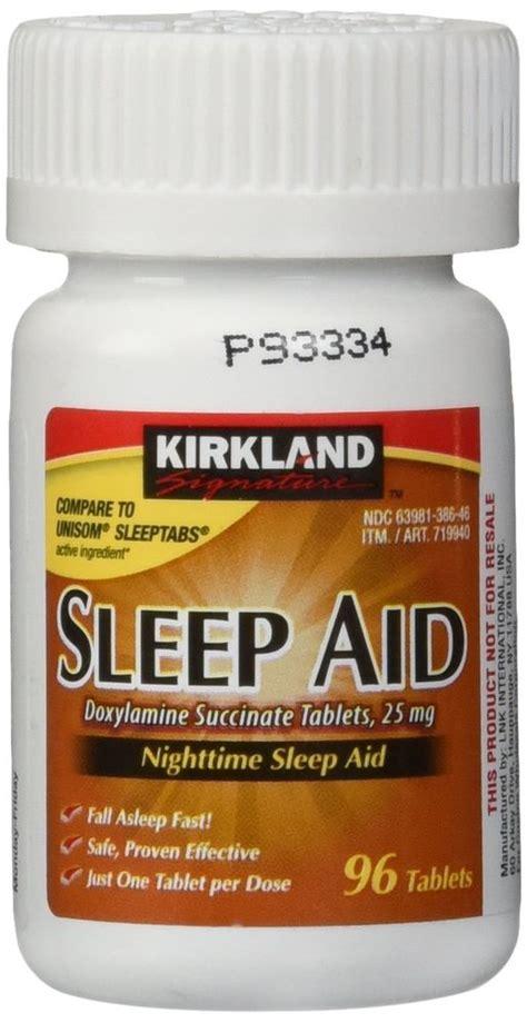 sleep aid kirkland sleep aid doxylamine succinate 25mg 96 tablets