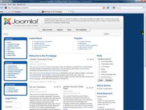 How To Install A Joomla Template Youtube How To Install Joomla Template