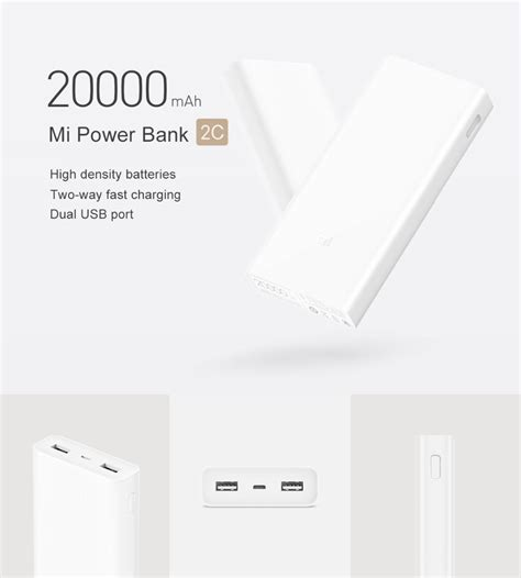 Pasaran Power Bank Xiaomi 2c 20000 3 0 2