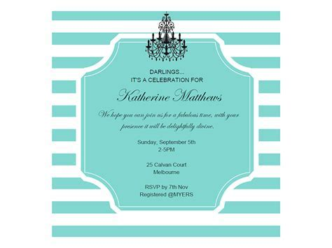 editable tiffany baby shower, bridal shower, birthday invitation, breakfast at tiffanys