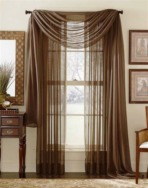 Hanging Scarf Valances 15 Delightful Sheer Curtain Designs For The Living Room