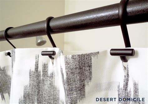 Diy Shower Curtain Rod by Diy Pipe Shower Curtain Rod Desert Domicile