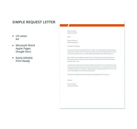 request letter templates premium