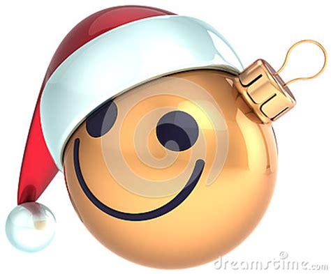 christmas ball smiley face gold happy  year santa royalty  stock  image