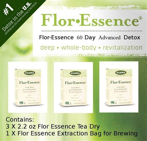 2 Day Detox Price by Flor Essence Tea 60 Day Advanced Detox
