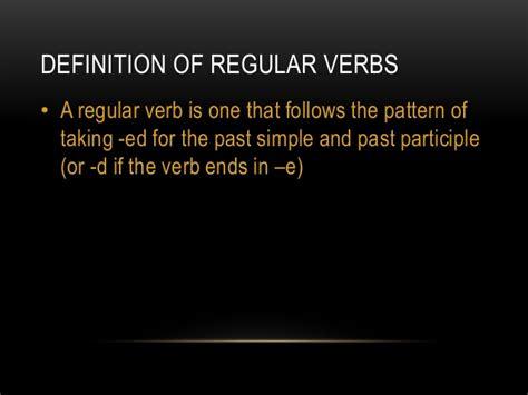 verb pattern raise regular and irregular verbs