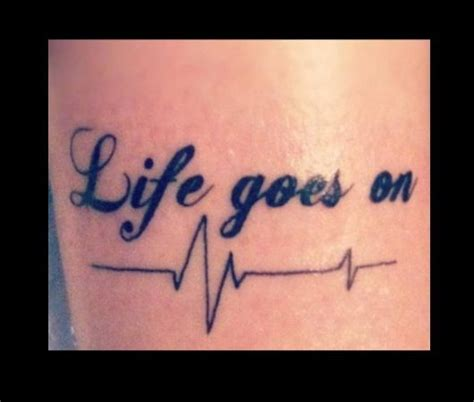 life goes on tattoo designs goes on my skips beats beat tattoos