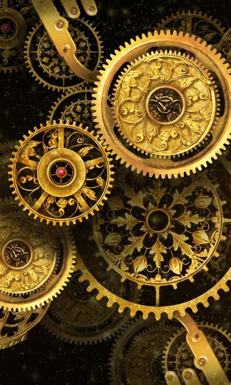 gold clock  wallpaper android apps  google play