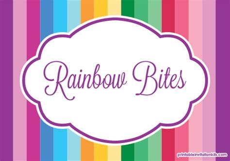 Rainbows And Unicorn Birthday Printables Wedding Invitation Templates Printable Invitation Kits Unicorn Label Template