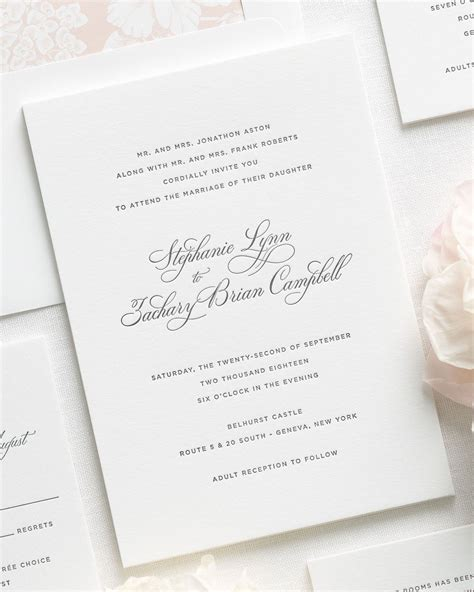 Wedding Invitations Letterpress by Delicate Elegance Letterpress Wedding Invitations