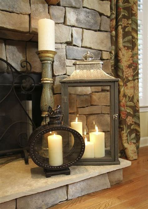 fireplace decor 20 romantic fireplace candle ideas home design and interior