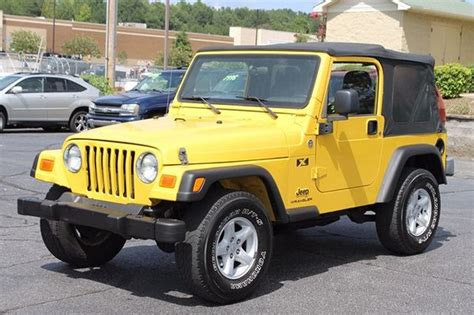 jeep wrangler yellow for sale yellow jeep wrangler in south carolina for sale used cars