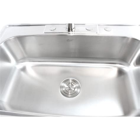 Kitchen Sink Top by 33 Inch Stainless Steel Top Mount Drop In Single Bowl