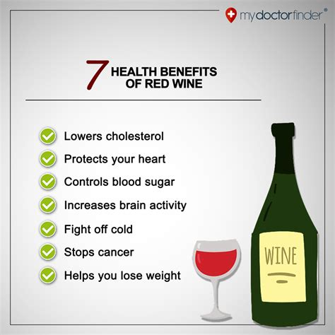 7 Benefits Of Wine by 7 Health Benefits Of Wine My Doctor Finder