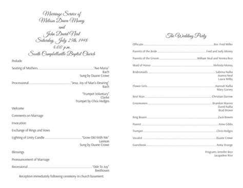 traditional wedding program templates wedding program templates wedding programs fast