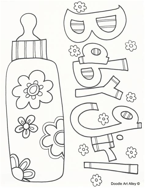 coloring page it s a baby girl baby girl coloring pages ba coloring pages doodle art